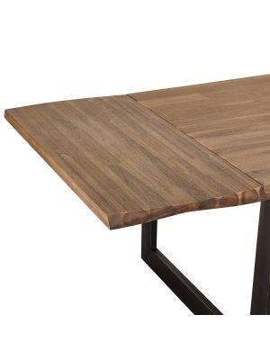 24Designs Mallorca Eettafel Verlengstuk - L50 x B100 cm - Massief Acaciahout