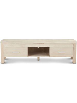 24Designs Paris TV-meubel - B150 x D42 x H40 cm - Eikenhout White Wash