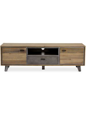 24Designs Malaga TV-meubel - B160 x D42 x H50 cm - Massief Acaciahout