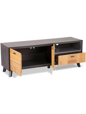 24Designs Sentosa TV-meubel - B155 x D47 x H56 cm - Massief Eikenhout