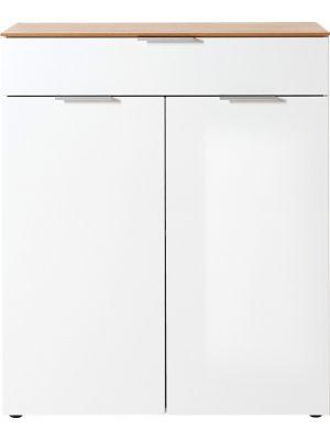 24Designs Elegant Ladekast - B90 x D40 x H106 cm - Wit