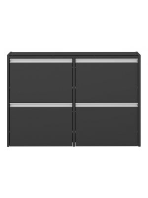 24Designs Skyline Schoenenkast Zwevend B103 x D18 x H70 cm – Zwartgrijs