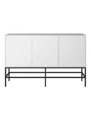 24Designs Slimline Harlekin Dressoir - B150 x H97 cm – Wit/Zwart
