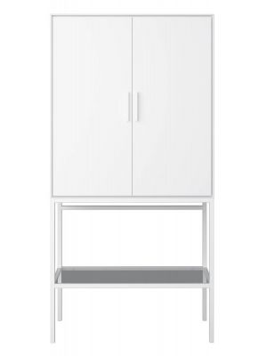 24Designs Slimline Opbergkast - B80 x H160 cm - Wit