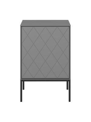 24Designs Slimline Harlekin Nachtkast - B47 x H71 cm – Grijs