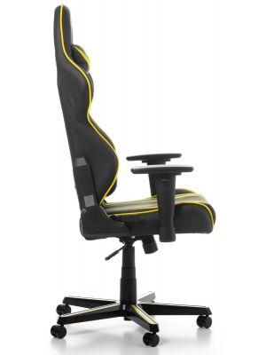 DXRacer Racing Stripes-series Game & Bureaustoel - Zwart/Gele Strepen PU