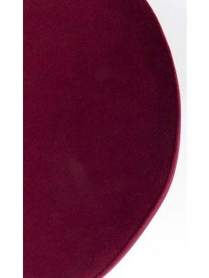 Kare Design Cherry Poef - Ø35x42 - Bordeaux Fluweel - Messing