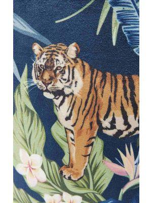 Kare Design Cherry Poef - Ø35x42 - Jungle Tiger Goud - Messing