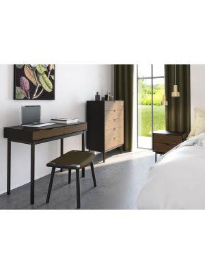 24Designs Soma Ladekast -  B80 x H111 cm – Zwart/Bruin