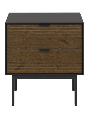 24Designs Soma Nachtkastje - B51 x D41 x H54 cm – Zwart/Bruin