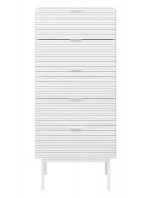 24Designs Soma Ladekast - B51 x H111 cm - Wit
