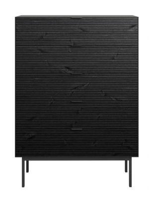 24Designs Soma Ladekast - B80 x H111 cm - Zwart