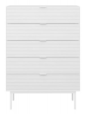 24Designs Soma Ladekast - B80 x H111 cm - Wit