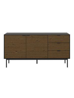 24Designs Soma Dressoir - Lades - B150 x D41 x H76 cm – Zwart/Bruin