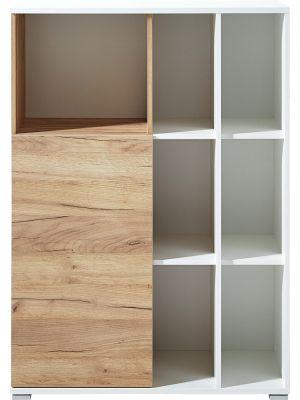 24Designs Soft Archiefkast - B85 x D40 x H120 cm - Eikeneffect