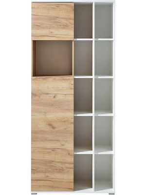 24Designs Soft Boekenkast - B85 x D40 x H197 cm - Eikeneffect