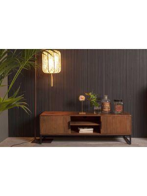 Dutchbone Saroo Tv-Meubel - B140x D40 x H45 cm - Gelakt Mangohout