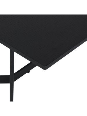 24Designs Tokyo Salontafel - B140 x D80 x H52 - Zwart Eikenfineer - Metaal