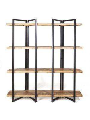 24Designs Edmond Wandkast Hoog 4-Planken - B160 x D44 x H180 cm - Bruin