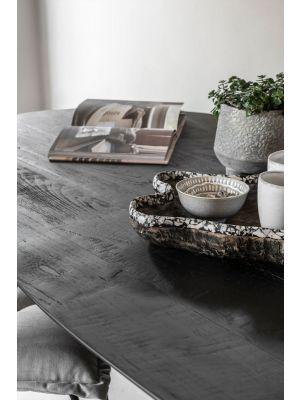 24Designs Timeless Shape Ovale Eettafel L280 x B120 x H78 cm - Zwart Teakhout