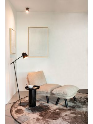 Zuiver Lau Vloerlamp - B61 x H131 cm - Zwart