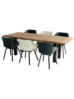 Hartman Sophie Yasmani Actieset - 6x Sophie Element armchair Stoelen + Yasmani Tafel 240 cm