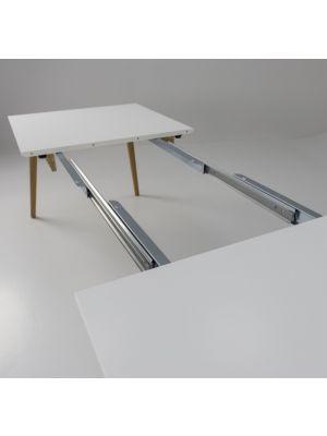 Tenzo Dot Verlengbare Tafel 160/205x90x75 - Wit Tafelblad - Eiken Poten