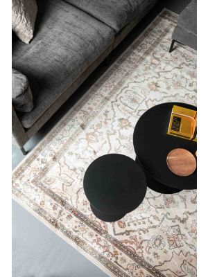 Zuiver Trijntje Vloerkleed - L300 x B200 cm - Roze/Olijf