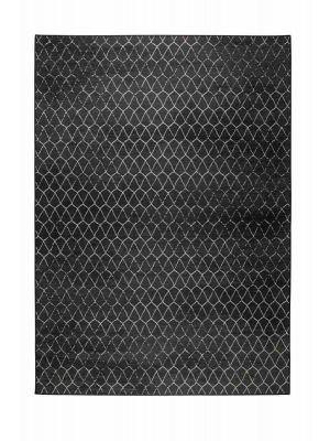 Zuiver Crossley Buitenkleed - Outdoor Vloerkleed - B170 x L240 cm - Stof - Zwart