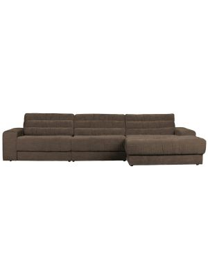BePureHome Date Chaise Longue Rechts  - Vintage Stof - Warm Grey