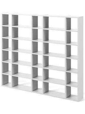 TemaHome Boekenkast Pombal Comp 2012-055 B255 x D34 x H224 cm - Mat Wit