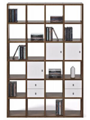 TemaHome Boekenkast Pombal Comp 2010-001 - B151 x D34 x H224 cm - Walnoot
