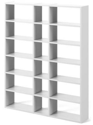 TemaHome Boekenkast Pombal Comp 2010-018 - B182 x D34 x H224 cm - Mat Wit