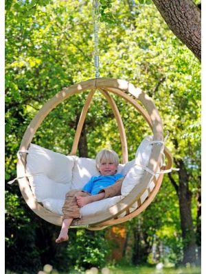 Amazonas Globo Chair Hangstoel 1-Persoons Taupe Kussens - Vurenhout