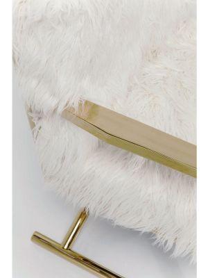 Kare Design Mr. Fluffy Armstoel - Imitatie Bont - Goudkleurig Onderstel