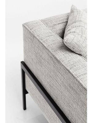 Kare Design Loft Bank 3-zits - Breedte 226 cm - Salt & Pepper - Gemêleerde Grijze Stof