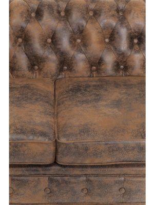 Kare Design - Bank Oxford 3-Zits - Vintage Econo Kunstleer