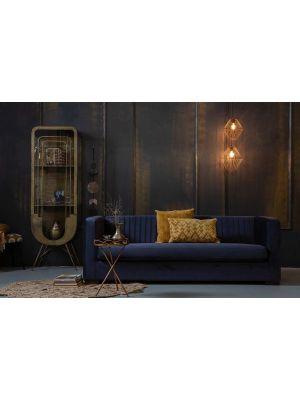 BePureHome Nouveau Bank - B215 cm - Fluweel Inktblauw