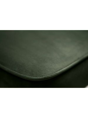 BePureHome Vogue Velvet Barkruk - Zithoogte 65 cm - Onyx Fluweel - Zwarte Metalen Poten