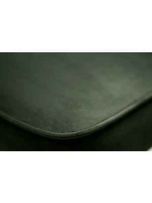 BePureHome Vogue Velvet Barkruk - Zithoogte 80 cm - Onyx Fluweel - Zwarte Metalen Poten