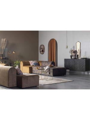 BePureHome Counter Dressoir 4-Deurs - B160 x D40 x H83 cm - Zwart Mangohout