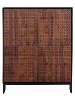 BePureHome Nuts Kast 4-Deurs - B114 x D40 x H140 cm -  Sheesham hout