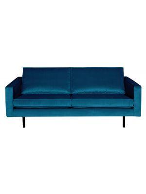BePureHome Rodeo Bank 2.5-Zits - B190 cm - Velvet - Blauw Fluweel