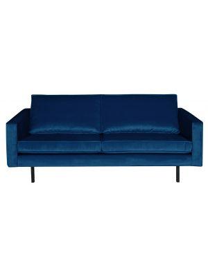 BePureHome Rodeo Bank 2.5-Zits - B190 cm - Velvet - Donkerblauw Fluweel