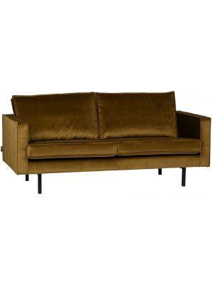 BePureHome Rodeo Bank 2.5-Zits - B190 cm - Velvet - Honing Geel Fluweel