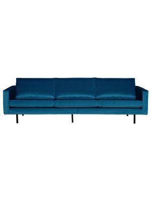 BePureHome Rodeo Bank 3-Zits - B277 cm - Velvet - Blauw Fluweel