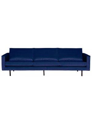BePureHome Rodeo Bank 3-Zits - B277 cm - Velvet - Donkerblauw Fluweel