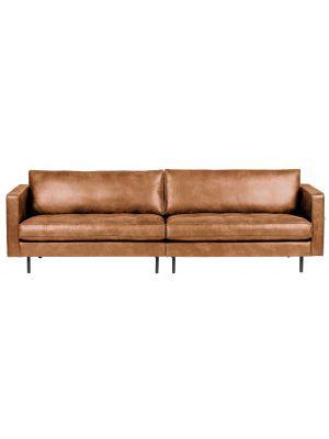 BePureHome Rodeo Bank Classic 3-zits - B275 cm - Leer - Cognac