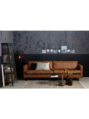 BePureHome Rodeo Bank Classic 2.5 Zits - Breedte 230 cm - Leer Cognac