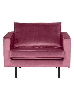 BePureHome Rodeo Fauteuil 1.5-Zits - B105 cm - Velvet - Roze Fluweel